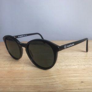 Vtg Sergio Tacchini T102 Black Round Sunglasses